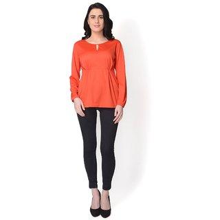 Yaadleen Organic Cotton Regular Tops - Orange