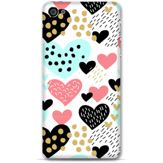 IPhone 4-4s Designer Hard-Plastic Phone Cover from Print Opera -Beautiful hearts