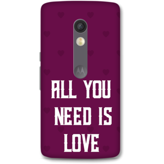 Moto X Play Designer Hard-Plastic Phone Cover from Print Opera -Typography