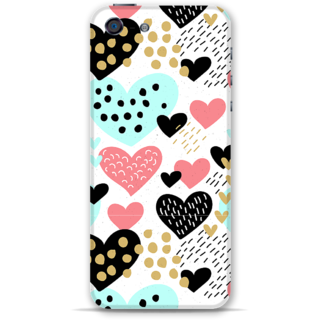 IPhone 5-5s Designer Hard-Plastic Phone Cover from Print Opera -Beautiful hearts