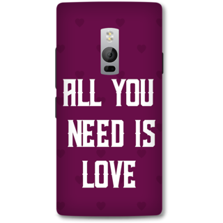 One Plus Two Designer Hard-Plastic Phone Cover from Print Opera -Typography