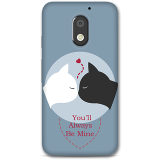 Moto E3 power Designer Hard-Plastic Phone Cover from Print Opera -You will always be mine