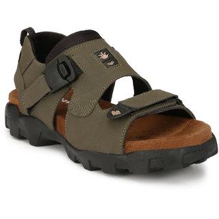 Shoegaro Men's Green Casual Sandal