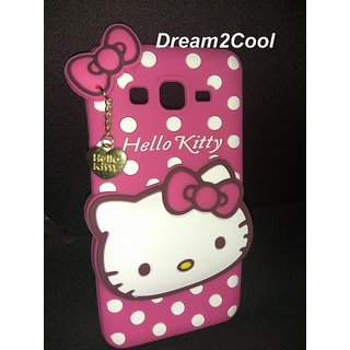 sale retailer 31f93 f46ba Samsung Galaxy J2 Ace / J2 Prime Back Cover - Dream2Cool Printed Hello  Kitty Soft Rubber Silicone Pink Back Cover Case For Samsung Galaxy J2 Ace /  J2 ...