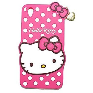 buy popular b468e fc99e Oppo A37 Back Cover - Dream2Cool Printed Hello Kitty Soft Rubber Silicone  Pink Back Cover Case For Oppo A37