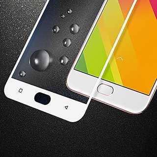 Oppo F1s Full Coverage Tempered Glass, Color Glass Edge to Edge Crash Protection Curved Scratch