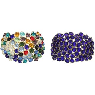 JDX Combo Crystal 2 Bracelet Set Size_Adjustable