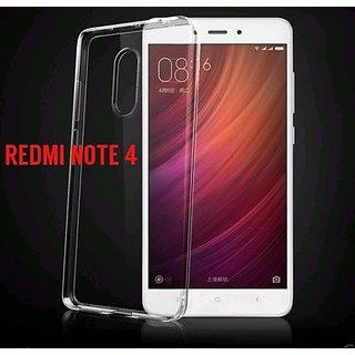 Transparent Original Soft Silicone Back Cover Case For Redmi Note 4