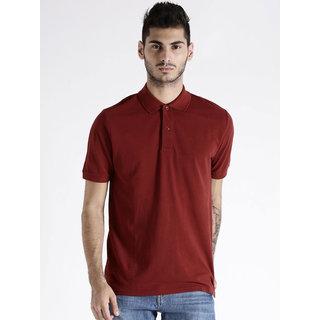 SquarFeet Maroon Polo T-Shirt For Men