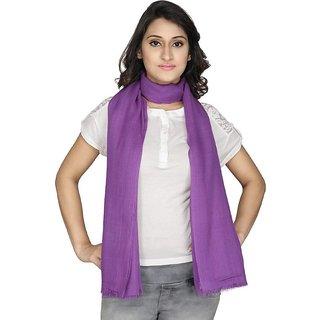Anekaant Womens Purple Solid Viscose Stole
