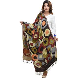 Anekaant Womens Multicolor Self Design Viscose Woolen Scarves