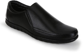 Kanprom Black Formal Genuine Leather Shoes For Men