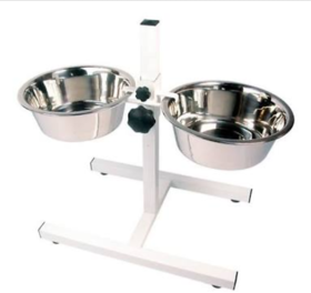 100 Stainless Steel Dog Food Stand with 1500 ML  2 Bowls