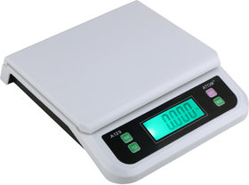 ATOM - 129 Digital Compact Weighing Scale (Platinum) For Kitchen, Departmental Store With Max Capacity 25Kg