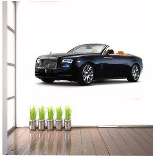 Wall Sticker Black Sport Car Design (Cover Area :- 36 X 15 inch)