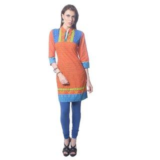Saving Tree Knee length  kurta in vibrant colours