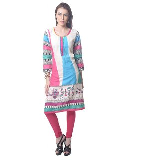 Saving TreeThis attractive print kurta will contribute to enchance your overall personality.