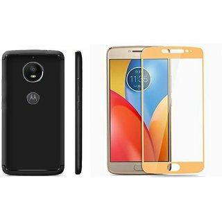 motorola e4 case. motorola moto e4 plus black back case cover and gold tempered glass combo
