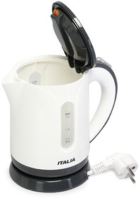 IK-1601, 1 liter 1000-watt electric tea kettle features an illuminated power indicator, automatic shut-off for dual protection when boiling or dry and an overheat shut-off.