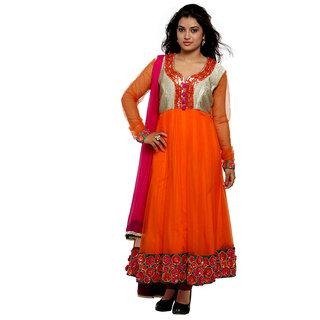 WV&U Orange Anarkali Dress