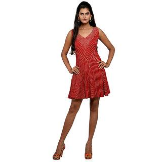c5365b344e6e Buy WV U Red Short Dress Online- Shopclues.com