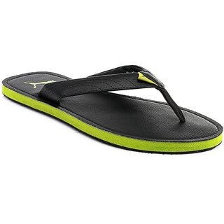 cd8910090a61 Buy PUMA Ketava green black slippers Online - Get 42% Off