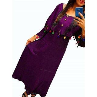 Reeva Trend'z Women's Desinger Rayon Long-kurtis