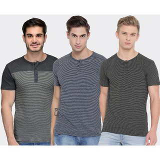 ee060057b7 Buy TSX Pack of 3 Men s Cotton Stylish T-Shirt Online - Get 70% Off