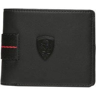 Puma Men Black Canvas Wallet (5 Card Slots)