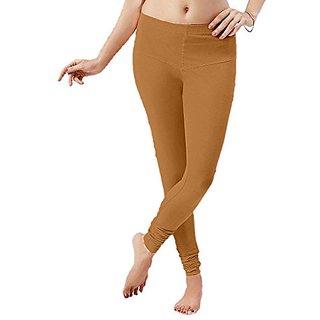 Florona Cotton Lycra Churidar Leggings (Gold Colour)