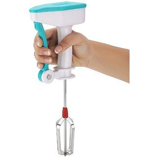 Stainless Steel Power Free Hand Blender for Egg  Cream Beater - Color may vary (SB)