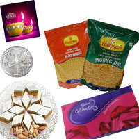 Delightful Sweet And Namkeen Hamper With Cadbury Celebr