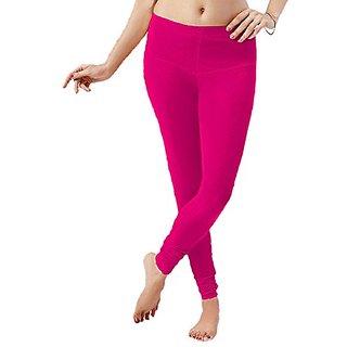 Florona Cotton Lycra Churidar Leggings (Rani Pink))