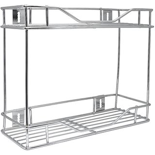 Kingsburry Double Multi Purpose Rack Stainless Steel (Crome Finishing)
