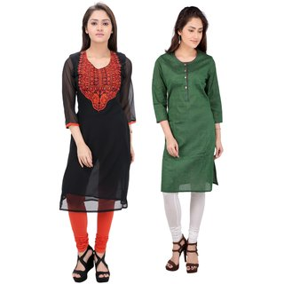 Meia combo pack of two  kurtis in vibrant colors