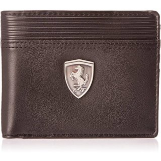 Puma Men Brown Artificial Leather Wallet (6 Card Slots)