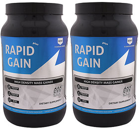 GXN Rapid Gain Plus 3lb, Strawberry Creme' - Pack Of 2