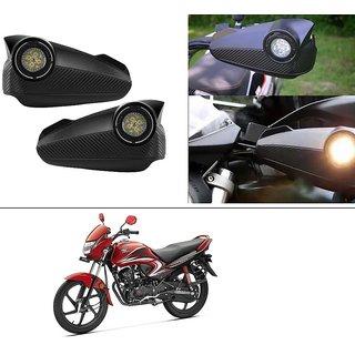 AutoStark Bike Hand Guard Motorycle Hand Protector with Bright Light Black For Honda Dream Yuga