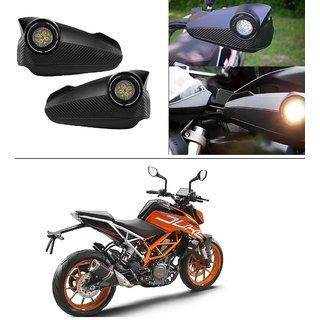 AutoStark Bike Hand Guard Motorycle Hand Protector with Bright Light Black For KTM Duke 390