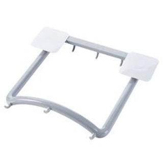 SYGA Bathroom Wash Basin Rack-Free Nail Strong Glue Storage Rack Basin Frame Punch-Free Hanger (Grey)