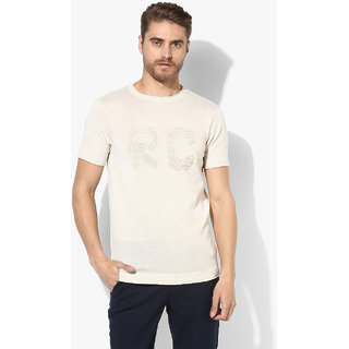 Red Chief Beige Cotton T-Shirt For Men's (8220120 026)