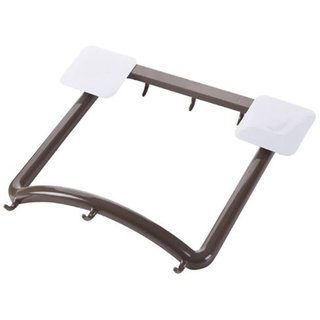 SYGA Bathroom Wash Basin Rack-Free Nail Strong Glue Storage Rack Basin Frame Punch-Free Hanger (Brown)