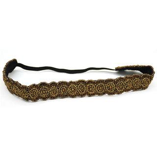 Master Piece Crafts Handmade Golden Beads HeadBand