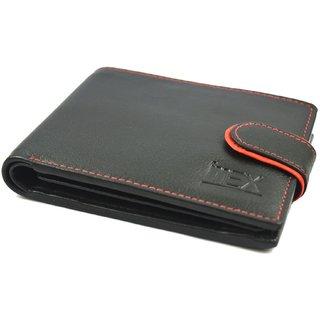 iMex Mens Black With Loop Genuine Leather wallet