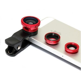 Universal 3 In 1 Camera Lens (Fisheye + 2in1 Wide angle and...
