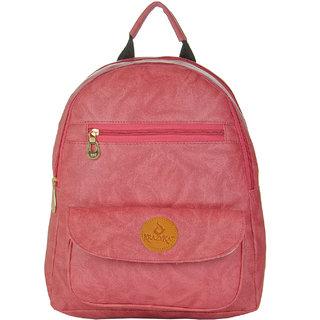 JG Shoppe Men & Women Pink PU Backpack
