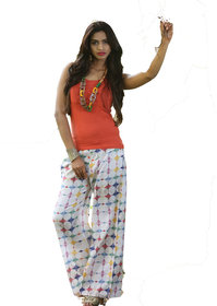 i-bought Party Wear Multicolor Rayon Pallazo  DIGITAL 5041