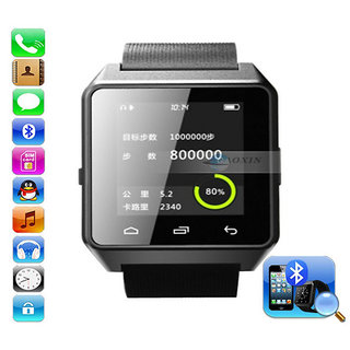 U8 Black Steel Smart Watch