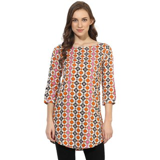 Vaamsi Women's Multicolor Printed Crepe Tunics