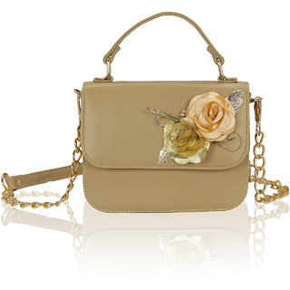 Kleio Flower Embellished Designer Sling Hand Bag Stachel For Women / Girls